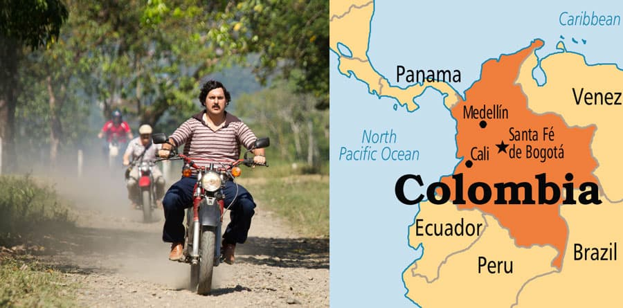 Pablo on a motorcycle in Colombia